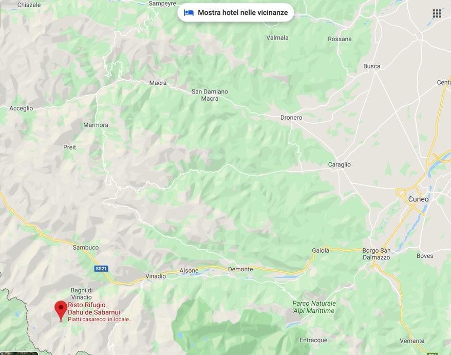 Mappa rifugio Dahu